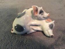 Porcelain figurine Pigs - Pair Denmark Royal Copenhagen 683