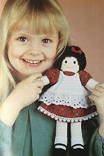 Sewing pattern Jean Greenhowe bien habillé Doll 5 tenues Toy 25 cm Tall RARE