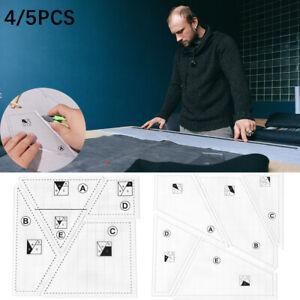 Kit Transparent Acrylic Quilting Templates Set Sewing Ruler Measuring Patchwork