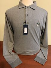 NWT Fairway & Greene Parkway Stripe Mens Medium Large XL Grey Long sleeve w logo
