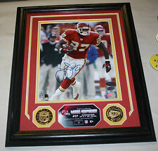 LARRY JOHNSON HIGHLAND MINT FRAMED AUTOGRAPHED 8X10 26/50 KANSAS CITY CHIEFS
