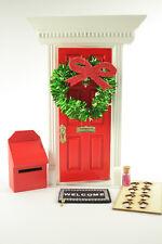 MAGICAL FAIRY DOOR + 6 Bonus FREE Accessories Wooden Hand Made &  Hand Painted