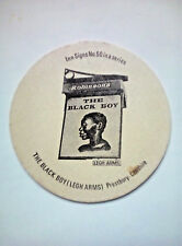 Vintage ROBINSONS - INN SIGNS - THE BLACK BOY  - Cat No'107 Beermat / Coaster