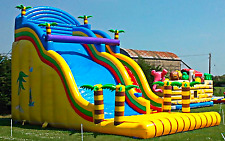 33x20x25 Commercial Tropic Inflatable Water Slide Bounce House Castle Moonwalk