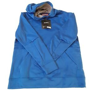 Simms Mens Challenger Hoody Small Pullover Rich Blue Pockets New
