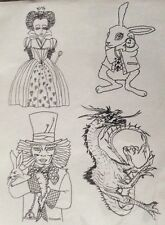 Alice In Wonderland. Set Of Unmounted Rubber Stamps.