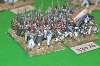 28mm napoleonic / french - regiment 32 figures plastic - inf (33076)