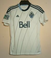 VANCOUVER WHITECAPS FOOTBALL CLUB 2013 WHITE HOME SHIRT ADIDAS BELL MLS PATCH S