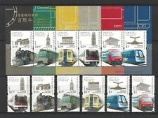 China Hong Kong 2010 Centenary of Railway Stamp Train set