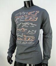 New Alpinestars Racing Knock Out L/S Gray Sport Mens T shirt size Medium