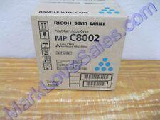 842086 Genuine Ricoh Savin Lanier MP C8002 C6502 Print Cartridge Cyan 841783