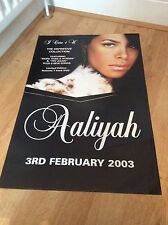 2 Aaliyah 'I Care 4 U' Original Record Company Promo Poster 2003 RARE