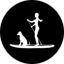 SUP (paddle board) Girl and Dog Jeep Wrangler Rubicon Liberty Spare Tire Cover