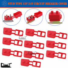 10x Circuit Breaker Cover Protective 12V 24V Stud Type Insulated PVC Protector