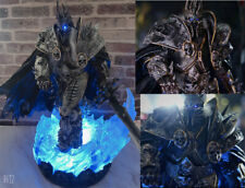 WOW Arthas Menethil Statue Lighting Figurine Lich King Resin Model High quality