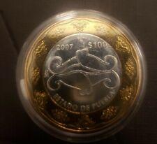 Mexico $100 Pesos Silver Bi-Metalic State Of Puebla 2007
