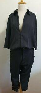 ONE TEASPOON Cropped Jumpsuit in Grey, XS