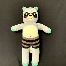 "Blabla Bandit The Raccoon Knit Handmade Doll Plush Toy 13"""