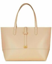 DKNY DONNA KARAN peach beige tan nude shoulder hand large purse tote bag shopper