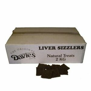 Davies Dried Chewy Liver Sizzlers Natural Dog Treat Chew Food Gluten Free