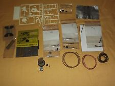 HOBBY LOT OF  MINIATURES PARTS GUNS 50 CAL SHELLS SOLDIERS HEADS WIRE ETC