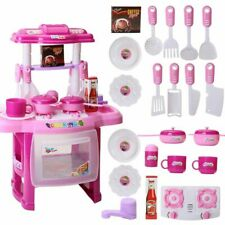 Kids Pretend Cooking Playset Miniature Toy Light Music Kitchen Cookware Toddler