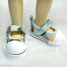 Yo-SD 1/6 Bjd Dollfie Leeke Doll Mary Jane Denim Maryjane Shoes Hiking BLUE