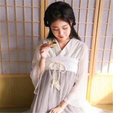 Women's Chinese Han Fu Skirt Vintage Long Sleeves Dress Costume Cosplay