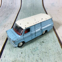 Dinky Toys British Ford Transit Van 407 Pale Blue White Roof 1960s with decal