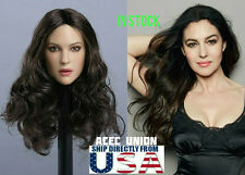 1/6 Monica Bellucci Female Head Sculpt For Hot Toys Phicen Female U.S.A. SELLER