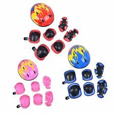 Schonerset Kinder Protektoren Schutzausrüstung Helm Skateboard Fahrrad 5-15 Jahr