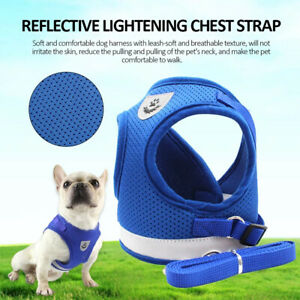 Small Pet Cat Dog Puppy Harness Lead Reflective Breathable Soft Mesh Vest Cute