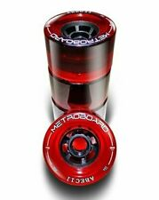 GENUINE ABEC11 83 MM FLYWHEELS - CLEAR RED - 75A - SET OF 4