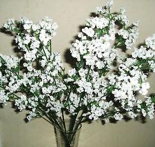 Artificial / Silk Flowers  Gypsophila X 6 Stems Bunch  White Baby's Breath