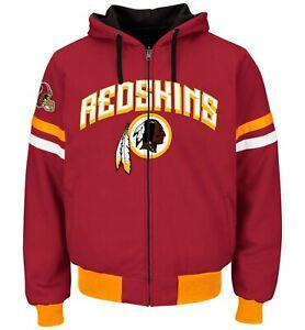 Washington Redskins Zone Reversible Hooded Jacket By G-III  Burgundy/Black