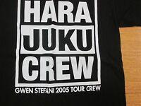Local Crew T-Shirt Gwen Stefani ( No Doubt ) Hara Juku Tour 2005 Small Black S A