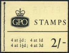 1963 QEII Blue Phosphor 2/- Lemon Booklet SG N14p