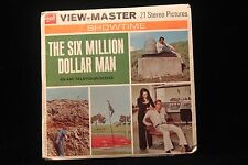 """Six Million Dollar Man Viewmaster 1974 w/3 Reels & Booklet """"Lee Majors EXCELLENT"""