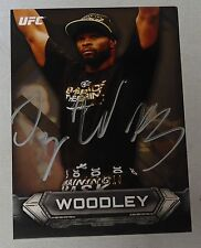 Tyron Woodley Signed 2014 UFC Topps Knockout Gold Card #21 #d /219 Autograph 171