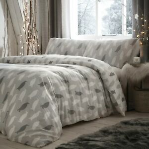 Fusion PENGUIN Christmas Bedding Xmas Duvet Cover Set Brushed Cotton Winter Gift