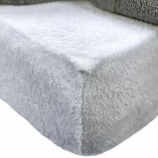 Brentfords Teddy Fitted Sheet Double Grey Silver