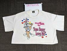 Vintage Space Jam Warner Bros 1996 Crop T-Shirt Single Stitch