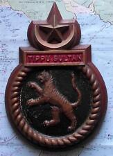 Old Heavy Solid Bronze Pakistan Navy Bulkhead HMPS TIPPU SULTAN Crest Tompion
