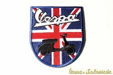 "Aufnäher ""Wappen Vespa"" - Blau - UK GB Union Jack Great Britain Piaggio Patch"