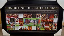 ESSENDON AFL ANZAC DAY PRINT FRAMED LIMITED EDITION - WATSON, HEPPELL, HIRD
