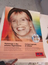 "Joni Mitchell Canada Post Stamp Poster 2-sided Commemoritive 27 3/4"" x 22"""