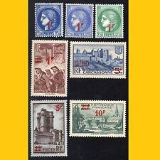 LOT 7 FRANCE 1940-41 (SURCHARGE ROUGE SUR TIMBRES 1938) - N° 486 A 492 NEUFS**