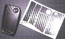 CARBON Chrom Folie Dekor Schlüssel Seat B Leon 3 III 5F Toledo KG Ibiza 6J Cupra