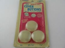 3 Vintage Quarter Ball Self Cover Buttons in Package Dupont Stain-Proof Nylon