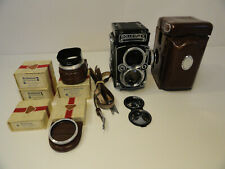 Vintage Camera Rolleiflex 2.8E Twin Lens Camera 80mm w lens, case & acc. ZD3-21